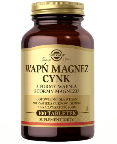 Solgar Wapń Magnez Cynk 100 tabletek