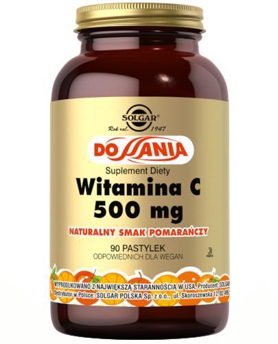 SOLGAR Witamina C 500 mg naturalny smak pomarańczy 90 pastylek do ssania