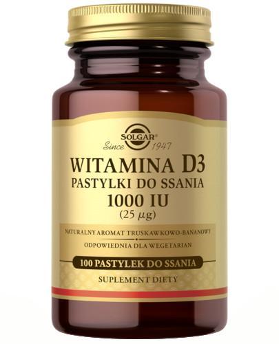SOLGAR Witamina D3 1000 IU (25 µg) 100 pastylek do ssania