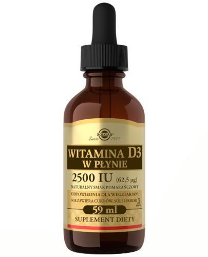 SOLGAR Witamina D3 2500 IU (62,5 µg) płyn 59 ml