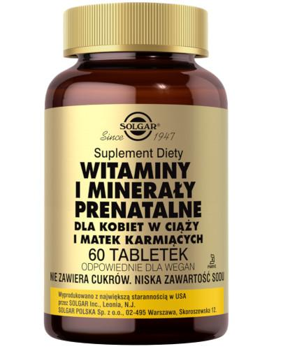 SOLGAR Witaminy i minerały prenatalne 60 tabletek
