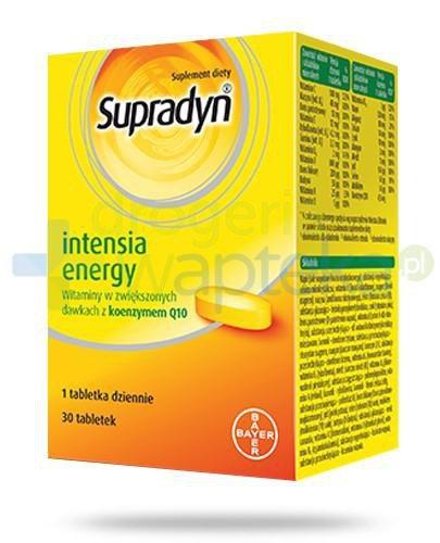 Supradyn Intensia Energy witaminy w zwiększonych dawkach z koenzymem Q10 30 tabletek