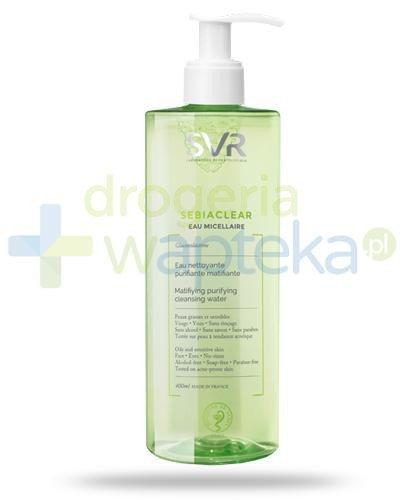 SVR Sebiaclear Eau Micellaire woda micelarna o lekkim działaniu keratolitycznym 400 ml