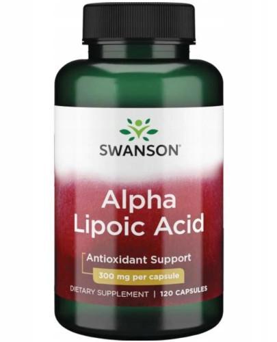 Swanson ALA kwas alfa liponowy 300mg 120 kapsułek