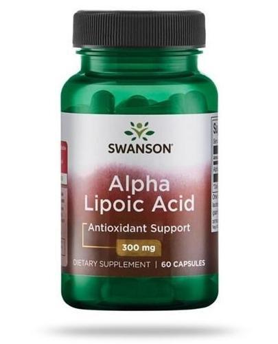 Swanson ALA kwas alfa liponowy 300mg 60 kapsułek