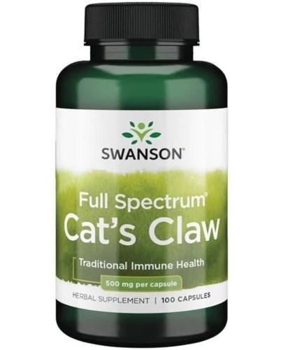 Swanson Full Spectrum Cat's Claw (Koci Pazur) 500 mg 100 kapsułek