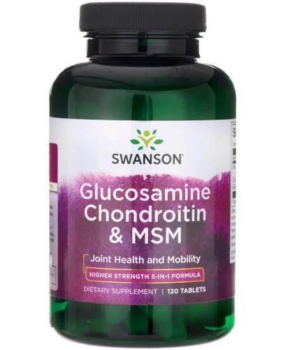 Swanson Glukozamina Chondroityna & MSM 120 tabletek