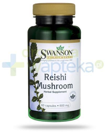 Swanson Reishi Mushroom 600mg 60 kapsułek