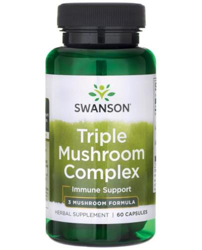 Swanson Triple Mushroom Complex 60 kapsułek