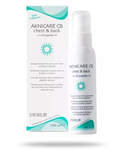 Synchroline Aknicare Spray preparat do stosowania na skórę pleców i dekoltu 100 ml