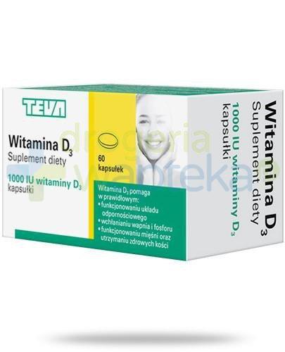 Teva witamina D3 1000j.m. 60 kapsułek  whited-out