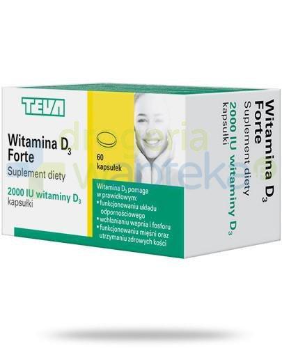 Teva witamina D3 Forte 2000j.m. 60 kapsułek  whited-out