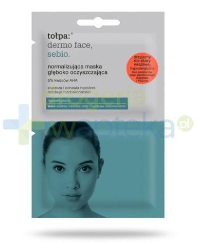 Tołpa Dermo Face Sebio normalizująca maska głęboko oczyszczająca 2x6 ml