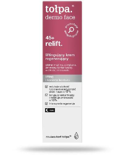 Tołpa Dermo Face Relift 45+ liftingujący krem regenerujący na noc 40 ml