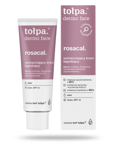 Tołpa Dermo Face Rosacal łagodzący krem wzmacniający na dzień lekki SPF10 40 ml