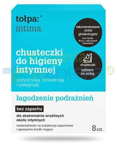 Tołpa Intima bezzapachowe chusteczki do higieny intymnej 8 sztuk