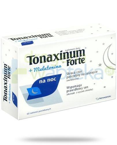 Tonaxinum Forte + melatonina na noc 60 tabletek