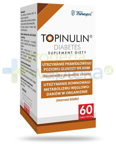 Topinulin Diabetes 60 tabletek  whited-out