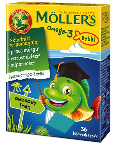 Tran Mollers Omega-3 Rybki, żelki owocowe 36 sztuk