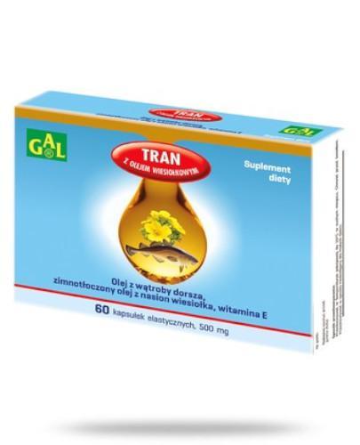 Tran z olejem wiesiołkowym 500 mg 60 kapsułek