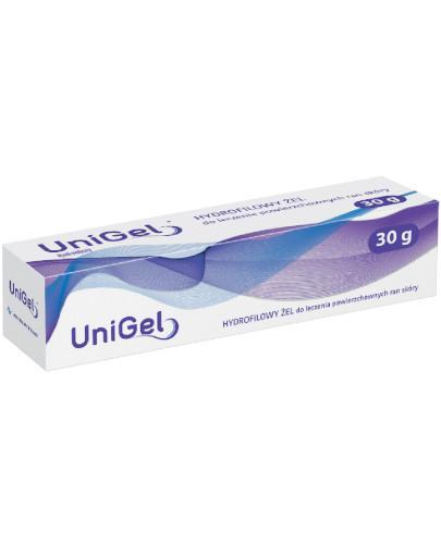 UniGel hydrofilowy żel przyspieszający gojenie ran 30 g [WYPRZEDAŻ]