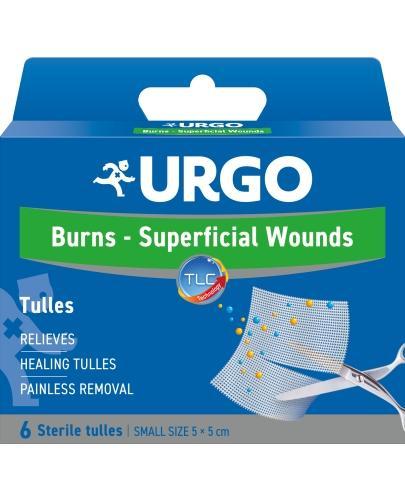 Urgo siateczka oparzenia i rany powierzchniowe 5 x 5cm 6 sztuk