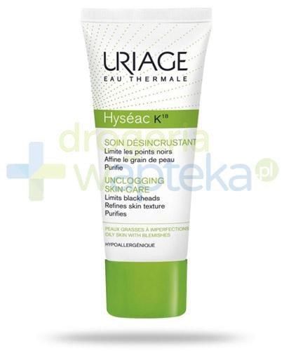 Uriage Hyseac K18 krem do skóry trądzikowej z zaskórnikami i zablokowanymi porami 40 ml