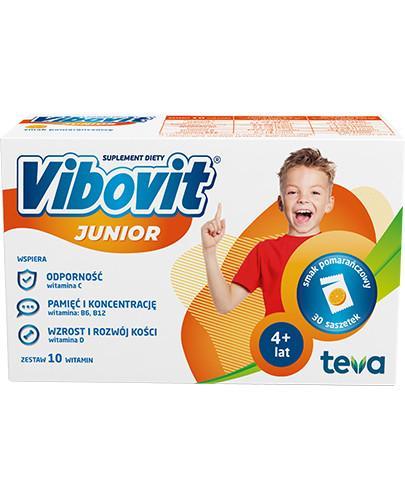 Vibovit Junior smak pomarańczowy dla dzieci 4-12 lat 30 saszetek