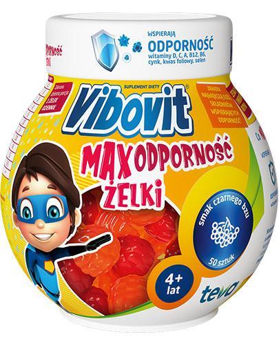 Vibovit Max Odporność zestaw 10 witamin i minerałów dla dzieci 4-12 lat 50 sztuk