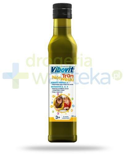 Vibovit tran norweski o smaku cytrynowym dla dzieci 3+ 250 ml