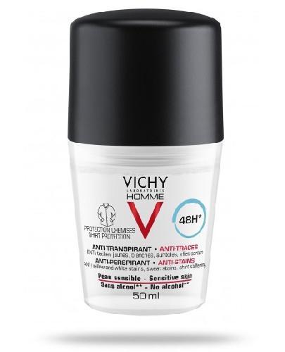 Vichy Homme antyperspirant przeciw białymi i żółtym plamom 48 godzin ochrony przed poc...