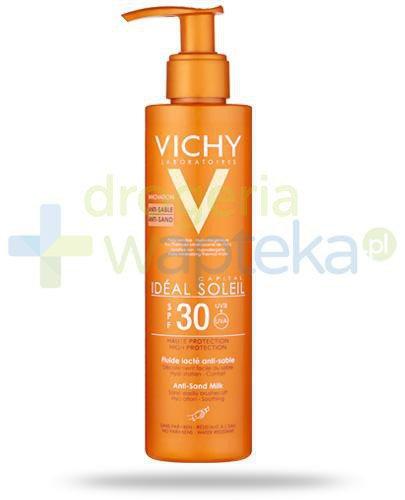 Vichy Ideal Soleil Capital SPF30 mleczko przeciw piaskowi do twarzy i ciała 200 ml  whited-out