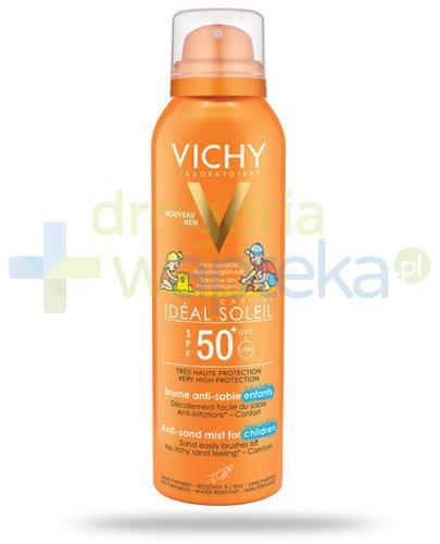 Vichy Ideal Soleil Capital SPF50+ mgiełka przeciw piaskowi dla dzieci 200 ml  whited-out