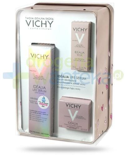 Vichy Idealia ZESTAW Life Serum idealizujące 30 ml + krem skóra normalna, mieszana 15 ml + krem pod oczy 3 ml