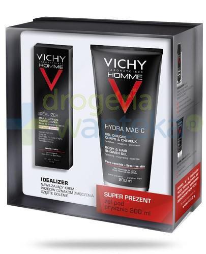 Vichy Homme Idealizer krem nawilżający przeciw oznakom zmęczenia częste golenie 50 m...  whited-out