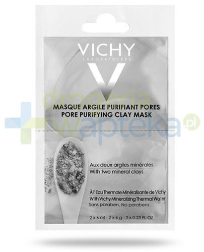 Vichy maska oczyszczająca pory z glinką 12 ml [KUP 2 produkty marki Vichy = żel do higi...
