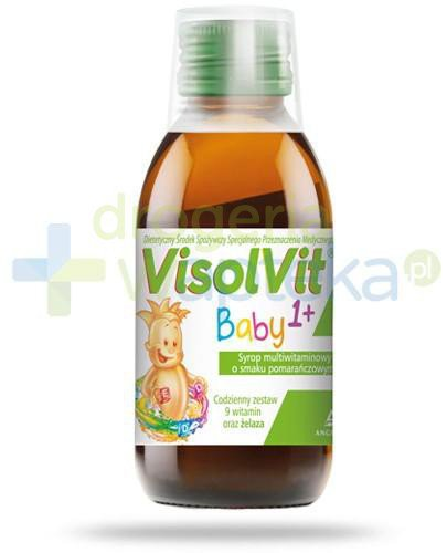 Visolvit Baby 1+ syrop multiwitaminowy o smaku pomarańczowym 120 ml