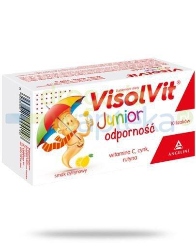 Visolvit Junior Odporność lizaki o smaku cytrynowym 10 sztuk   whited-out