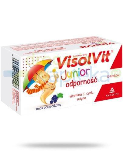 Visolvit Junior Odporność lizaki o smaku porzeczkowym 10 sztuk   whited-out