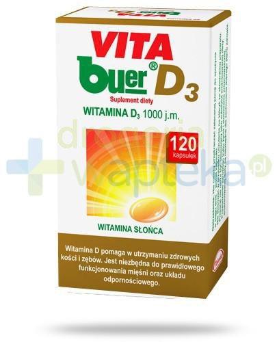 Vita Buer D3 1000 j.m. 120 kapsułek