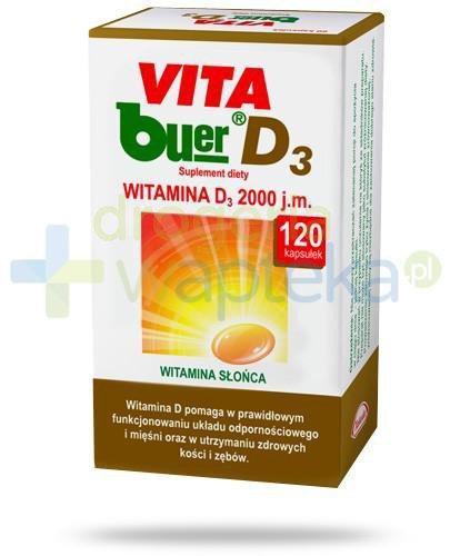 Vita Buer D3 2000 j.m. 120 kapsułek