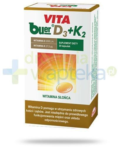 Vita Buer D3 2000 j.m. + K2 37,5μg 30 kapsułek
