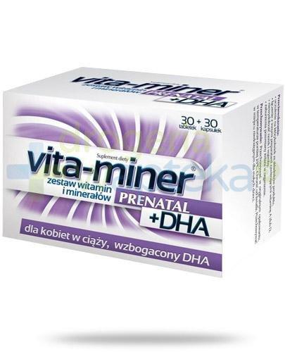 Vita-Miner Prenatal + DHA 30 tabletek + 30 kapsułek