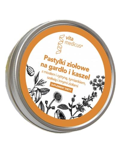 VitaMedicus Pastylki ziołowe na gardło i kaszel 60 g