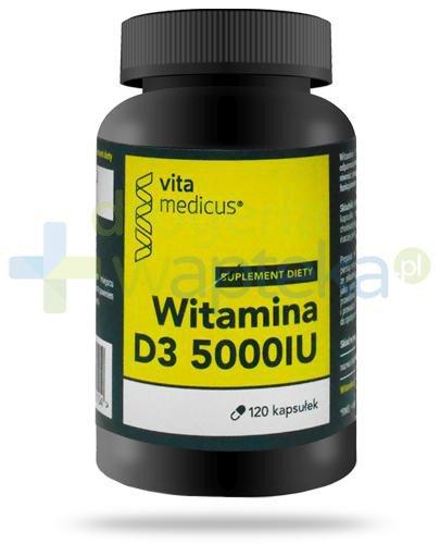 VitaMedicus witamina D3 5000UI 120 kapsułek  whited-out