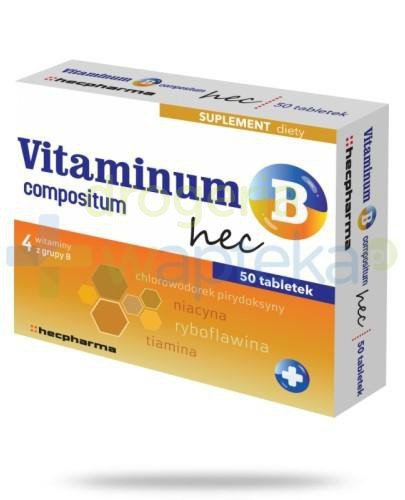 Vitaminum B compositum Hec 50 tabletek 18623