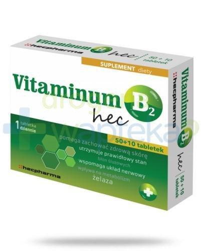 Vitaminum B2 Hec 60 tabletek 30 tabletek