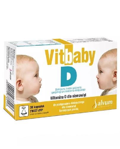 Vitbaby D 400j.m. witamina D dla niemowląt 30 kapsułek