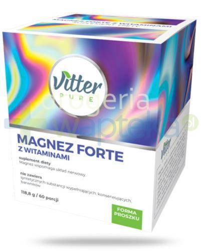 Vitter Pure Magnez Forte z witaminami, proszek 118,8 g