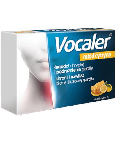 Vocaler na chrypkę i suchość w gardle smak miód cytryna 12 pastylek